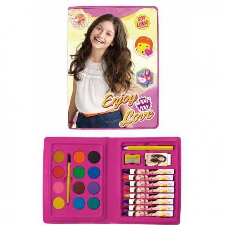 Art Set Paint Pencilcase Soy Luna Disney 24pz Estuche Pinturas Original