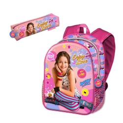 Backpack with Pencilcase Soy Luna Disney 40cm School Bag Mochila Portatodo