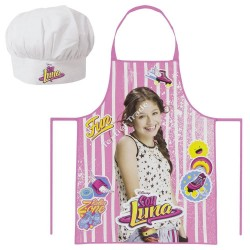 Apron Chef Hat Set Soy Luna Disney Original Delantal Gorro Cocina