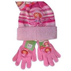 Hat and Gloves Set Strawberry Shortcake Original TARTA de FRESA  Charlotte Fraises