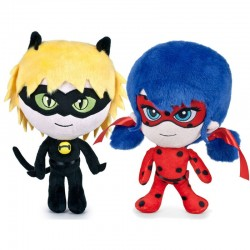 Miraculous Ladybug and Cat Noir Soft Plush Toys 30cm 11 Inches Original Peluche
