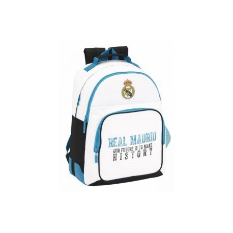 Mochila Real Madrid Doble C/ Cantonera 32x15x42cm