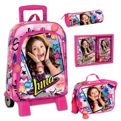 Mochila Soy Luna Disney 48cm Carro Trolley Backpack School Bag