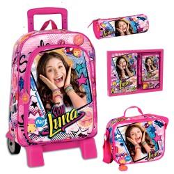 Mochila Soy Luna Disney 48cm Carro Trolley Backpack Original
