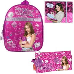 Backpack Violetta Disney School Bag with Double Pencilcase