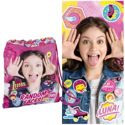Towel Beach Set Soy Luna Disney 100% Cotton with Gym Sack Toalla Bolsa