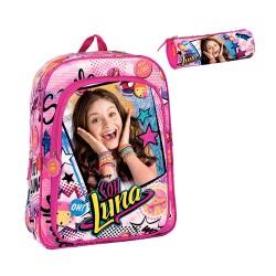 Mochila Soy Luna Disney Set Bolsa Merienda Diario y Portalapices School Bag Pencilcase Lunch Diary