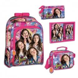 Set Mochila Soy Luna Disney Bolsa Merienda Diario y Portalapices School Bag Set Pencilcase Lunch Diary