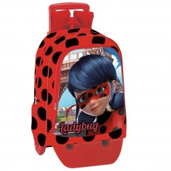 Backpack Set Miraculous Ladybug 42cm Large Schoolbag  with Trolley Official