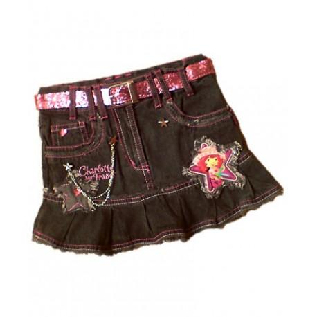 Falda Tarta de Fresa Girl Rock con cinturón púrpurina
