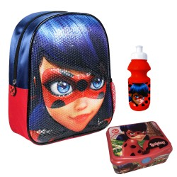 Backpack Miraculous Ladybug Small Bag Lunch Bottle Original