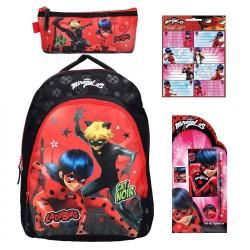 Backpack Miraculous Ladybug 43cm Pencilcase  School Bag StationerySet