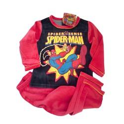 Pijama Spiderman Invierno Rojo + pulsera