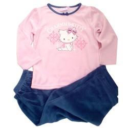 Pijama Charmmy Hello Kitty Invierno Rosa/Azul