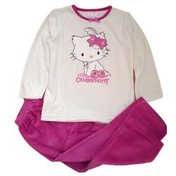 Pijama Charmmy Hello Kitty Invierno Blanco/Rosa