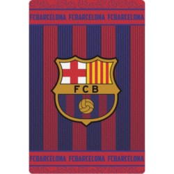 FC Barcelona Fleece Blanket 100 x 150 cm Official Club Crest