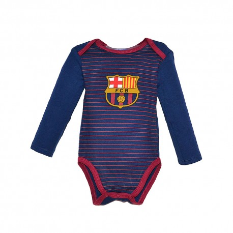 Baby Bodysuit Fc Barcelona Offical Crest Cotton Blue Grana Body Bebe