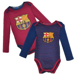 Baby Bodysuit Fc Barcelona Offical Crest Cotton Blue Grana Body Bebe