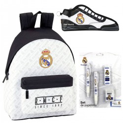 Backpack Real Madrid Large school Bag Set with Pencilcase
