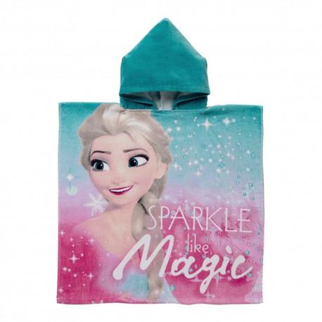Poncho Toalla Frozen Elsa Magic Algodon 60cm Oficial
