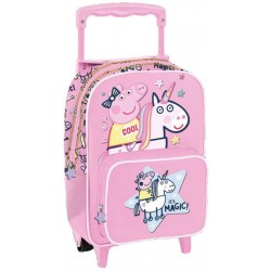 Backpack Trolley Peppa Pig Magic Unicorn wheeled school bag 12 inch Oficial