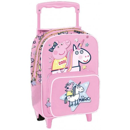 Mochila Trolley Peppa Pig Magic Unicornio 33x22cm Oficial