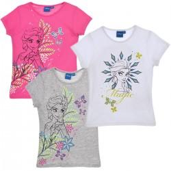 Frozen Pack 3 Camisetas Niña Manga Corta Algodon Original