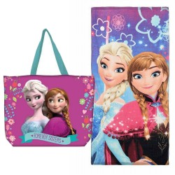 Frozen Elsa Anna Girls Bath Beach Large Towel with Bag Original
