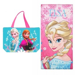 Frozen Elsa Girls Bath Beach Large Towel with Bag Original