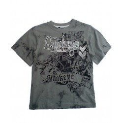 Camiseta STINKEYE estilo Tatoo Batik Gris