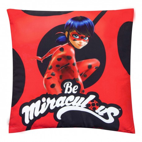 Miraculous Ladybug Cushion Pillow with Secret Pocket 16 Inches / 40cm Official