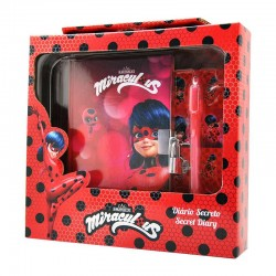 Miraculous Ladybug Diary with Lock Secret Ink Light Pen