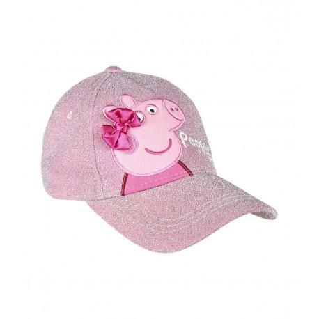 Peppa Pig Girls Baseball Sun Cap Glitter Embroidery Premium Decoration Official