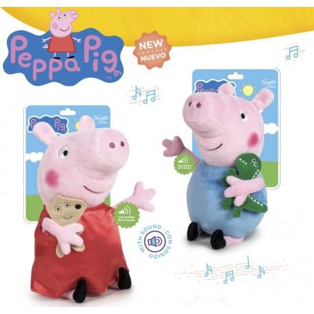 Peppa Pig Peluche con Sonido 27cm