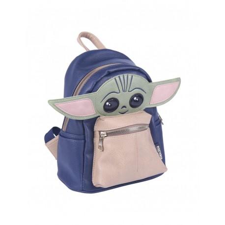 Mochila Mandalorian Baby Yoda Polipiel 22cm Original