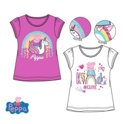 Pack of two Peppa Pig Girls T-shirt Glitter Short Sleeve