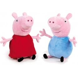 Peluches Peppa Pig y George Pack 2 Personajes 20cm Original Super Soft