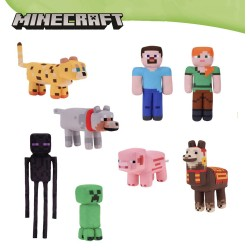 Minecraft Pack of 4 Plush Collection Figures 9 Inches Original
