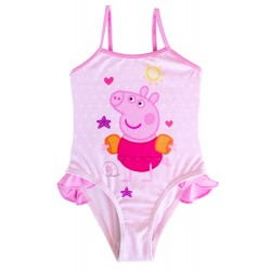 Peppa Pig Girls Swimsuit Pink Dots Official