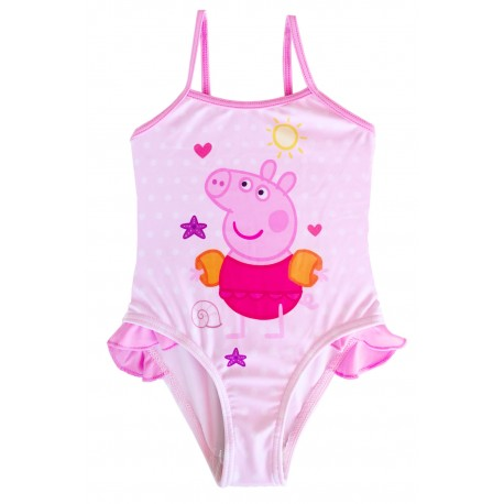 Peppa Pig Girls Swimsuit Pink Beautiful Official