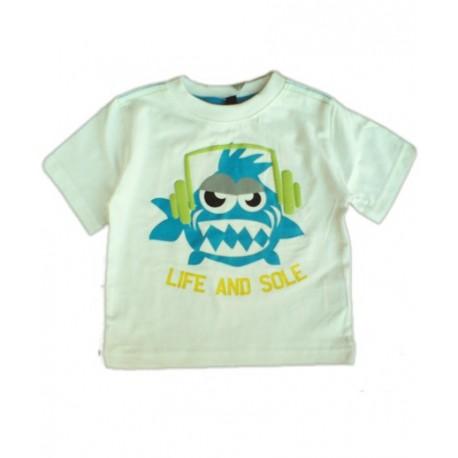 Camiseta Bebe FUNKY FISH Minoti Blanca