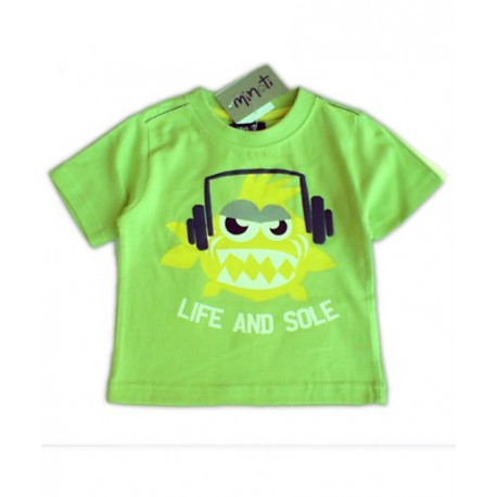 Camiseta Bebe FUNKY FISH Minoti Verde