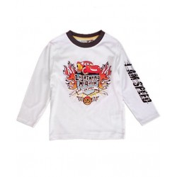 Camiseta CARS Rayo MacQueen M.Larga Blanca