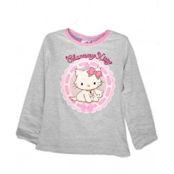 Camiseta Charmmy HELLO KITTY Purpúrina M/ Larga Gris