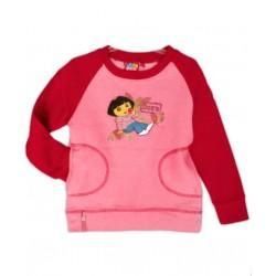 Camiseta Niña Felpa DORA EXPLORADORA Roja con Bolsillos