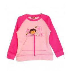 Camiseta Niña Felpa DORA EXPLORADORA Rosa con Bolsillos