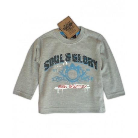 Camiseta SOUL&GLORY Rebel Industries ML Gris