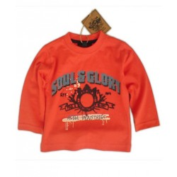 Camiseta SOUL&GLORY Rebel Industries ML Naranja